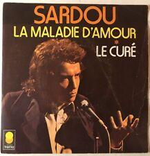 Ref1416 Vinyle 45 Tours Michel Sardou La Maladie D'amour, Le Curé