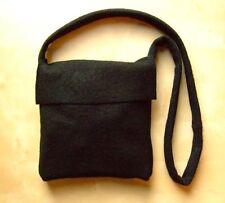 Damen Herren Mittelalter Reenacment LARP Tasche Umhängetasche mit Klappe schwarz