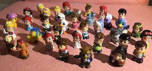 DISNEY Squinkies : 36 Figures W/ Clear Glitter Bubbles