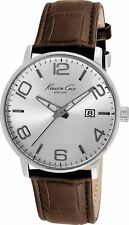 Kenneth Cole Mens Office Business Formal Sport Silver Brown Analog Watch KC8006