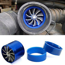 Air Intake Turbonator Single Fan Engine Gas Fuel Saver Turbine Super Charge Blue
