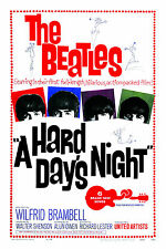 1960's The Beatles * Hard Days Night * USA  Movie Promo Poster Window Card 1964