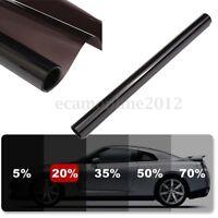 6M/50CM Film Teinte Solaire Noir Autocollant Vitre Fenêtre Voiture Batiment 20%