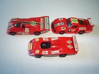 RED PORSCHE RACE MODEL CARS RACING SET 1991 1:87 H0 - KINDER SURPRISE MINIATURES
