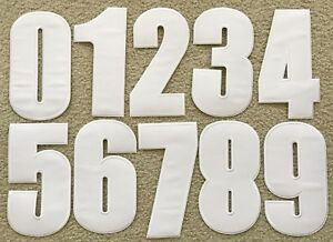 """Embroidered Iron on patch Number Your Choice Height 8.66"""" (22cm) AP025nG"""