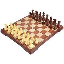 Juego de ajedrez peradix tradicional Juego de Mesa de Lujo Magnético Plegable De Madera..