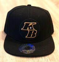 LA LAKERS KB Patch Style Cap Hat Black Flat Basketball NBA Kobe Adjustable NEW!