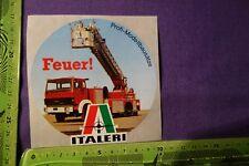Alter Aufkleber Modellbausätze Feuerwehr ITALERI