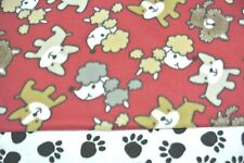 Dog Blanket Poodles Boston Terriers Paw Prints Can Be Personalized 28x44