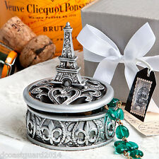 24 Eiffel Tower Design Curio Box Bridal Shower Favor Party Favors Paris Theme