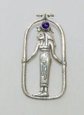 Egyptian Jewelry Lion Goddess Sekhmet Pendant with Custom Stone Sterling #P55
