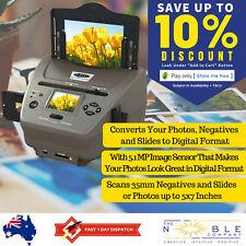 Photo, Film and Slide Scanner High Def Digital Converter 35mm Film to JPEG QPix