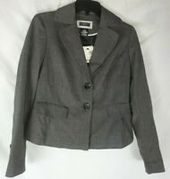George Women's Gray Two Button Blazer Size 4 Long Sleeve New with Tags