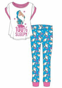 Women's Pyjamas Disney Pyjamas 100% Sleepy Ladies Teens T-Shirt Pjs sizes 8 - 22