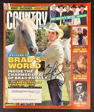 Brad Paisley Signed Magazine Authentic Autographed Signature