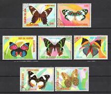 Papillons Guinée équatoriale (32) série complète de 7 timbres oblitérés