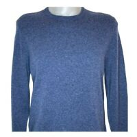 Brooks Brothers Mens Donegal Pullover Sweater Blue Marled Crew 100% Wool L New