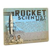 Rocket Scientist SIGN for Flying Model Rocketry Toy Saturn V Engines Science Kit