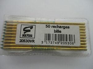 LOT DE 50 RECHARGE BILLE VERT SOLVEIG 20530VR (ref in 1.746.8)