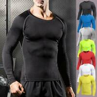 Men's Workout Compression Shirt Top Legging Gym Sport Base Layers Stretch Pants