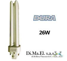 LAMPADA A BASSO CONSUMO DURALAMP COMPATTA NEON 26W LUCE FREDDA G24q-3 1620 LUMEN