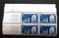 France-1949-Block of 4-25f Blue issues-MNH