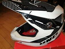 One Industries Negro/blanco Motocross BMX MX Casco XXL 63-64