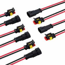 2 Pin Waterproof Electrical Wire Connector Plug Male Female Harness Clips 18 Awg