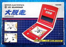 DAIDDASO Game & Watch (BANDAI). LCD SOLARPOWER 2 Screens in 1. BOXED, NEAR MINT!