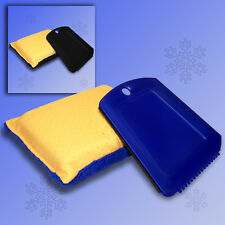 2 Pcs Window Sponge Ice Scraper Set, Car Discs Clear Sight Sponge + Scratch