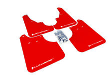 RallyArmor Red Mud Flaps (White Logo) for 09-13 Subaru Forester