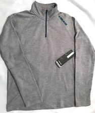 """NWT HEAD Mens 1/2 Zip Pull over-Lt. Gray-Size Small """"thermo temp"""" MSRP $50"""