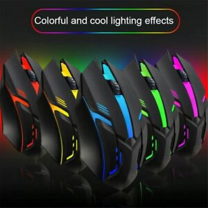 USB 2.0 Optical RGB Light Wired PC Gaming Mouse Note Book Laptop Computer Mice