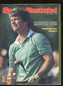 April 20, 1981 Sports Illustrated Tom Watson on Cover 134 Pages