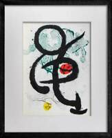 Joan MIRO Original COLOR Lithograph 1963 Cat. Ref (c83)  w/Custom Frame