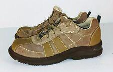 Stride Rite Toddler Tech  TT Barney Sneaker  Leather / Suede SZ 10 1/2 W Tan