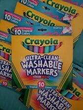 Crayola Ultra Clean Markers ColorMax Tropical Colors 10 Count Broad Line