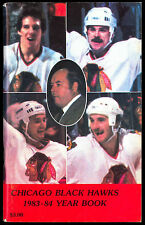 1983-84 CHICAGO BLACK HAWKS YEARBOOK MEDIA GUIDE WITH DENIS SAVARD TONY ESPOSITO