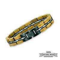 Armband aus Holz und Edelstahl   Armreif Kettenglied   Uhren Schmuck für Männer