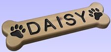 BONE Shaped Custom Routed Western Red Cedar Wood Sign DOG NAME PLAQUE!
