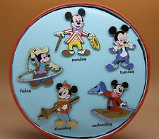 Disney Store Mickey Mouse Club Days of the Week 5 Pin Set LE 500 New in Box