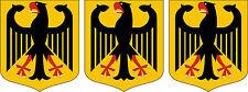 3 x Mini PREMIUM Aufkleber Wappen Deutschland Adler BRD Autoaufkleber Sticker