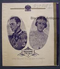 1939 King George VI & Queen Elizabeth City Port Arthur Official Visit Programme
