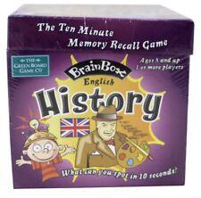 BRAINBOX Kids Memory Game ENGLISH HISTORY Facts Brain Challenge 1+ Players   8+