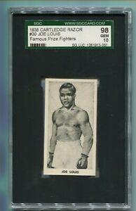 1938 F.C. CARTLEDGE RAZOR JOE LOUIS #30 FAMOUS PRIZE FIGHTERS SGC 10 GEM MINT