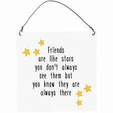 Friends are like STARS Funny Inspirational Cute Metal Plaque Sign Vintage 10x10
