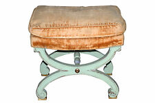 "Jansen Style Bench ""x"" Form Paint decorated  102-6086A"