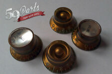 SET OF 4 AGED RELIC GIBSON MISMATCHED KNOBS LES PAUL GARY MOORE US SIZE 59 PARTS