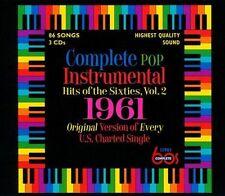 New 3CD Set Complete Pop Instrumental Hits Of 1961 17 CD Debuts 86 Total Tracks