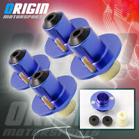 BLUE 4 PCS  EF EG EK DA DC2 B20 COILOVER SHOCKS STRUT TOWER TOP MOUNT TOP HATS